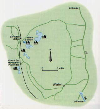 Leighton Moss RSBP Reserve - Map Leighton